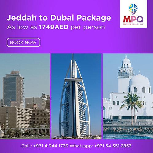 Jeddah to Dubai Package
