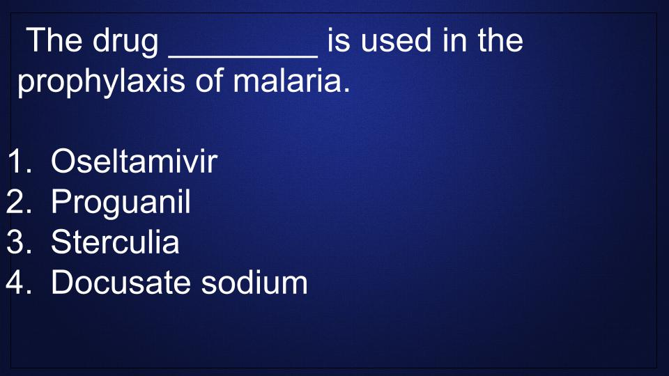 Malaria-Pharmacology-Review