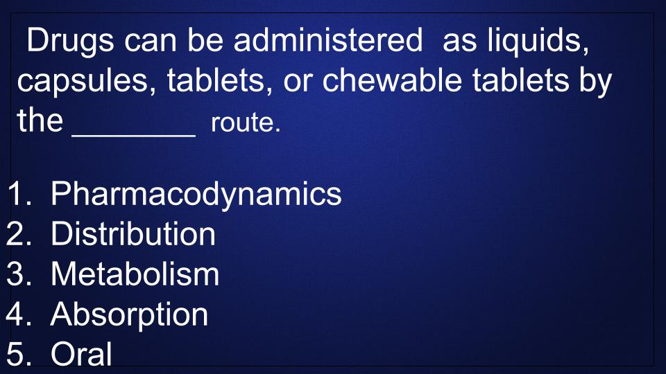 route-administration-pharmacology