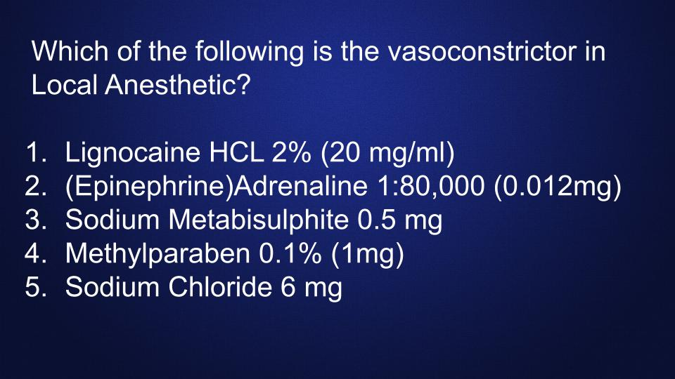 vasoconstrictor-local-anesthetic