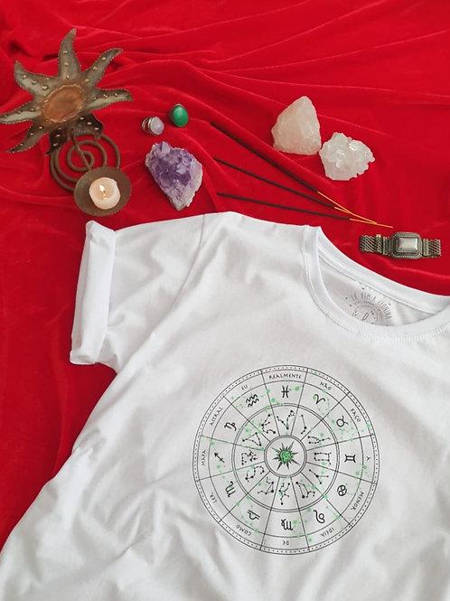T-shirt Mapa Astral - LAVEMALEONINA