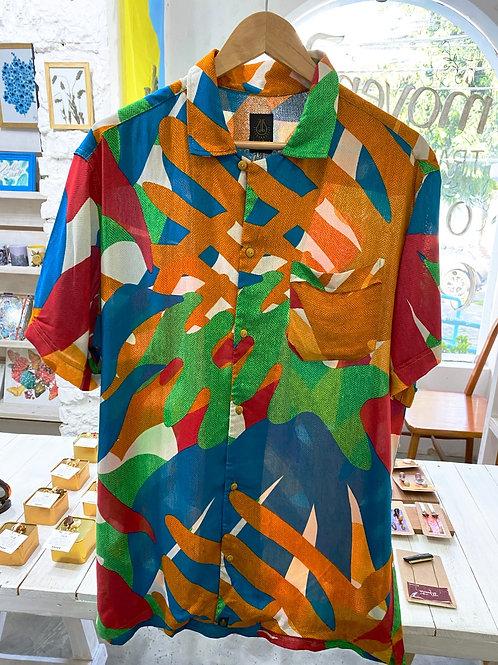 Camisa de Botão estampada  - Alumia