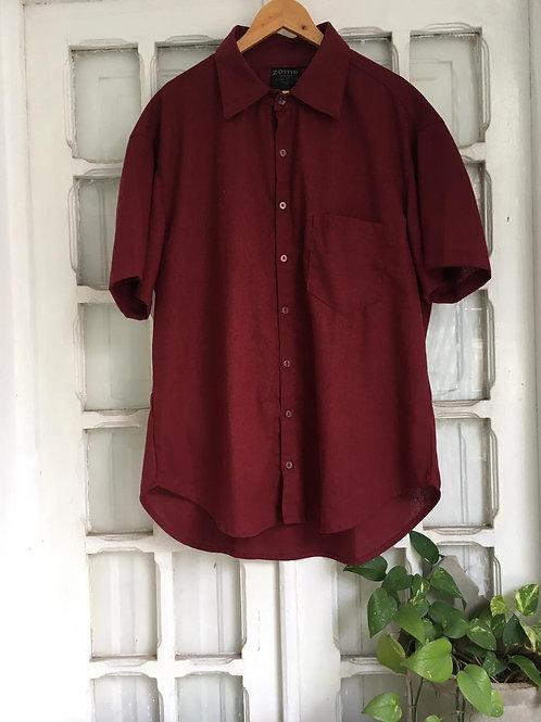 Camisa Levida Bordô -ZOME