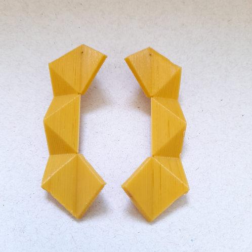 Brinco Origami Amarelo - TRELI