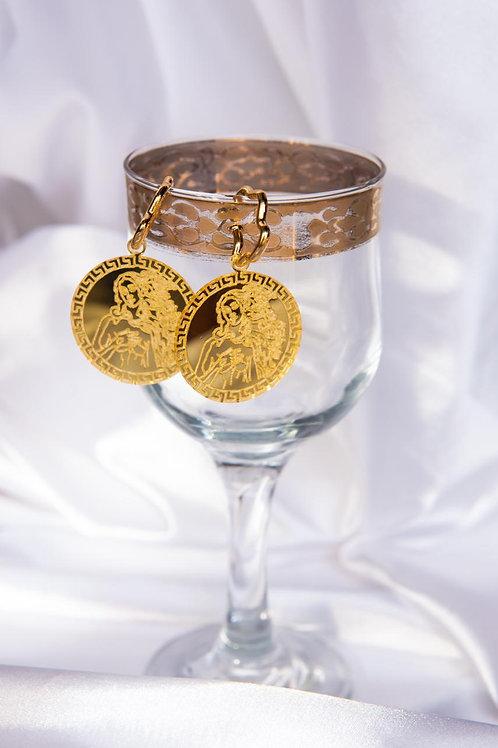 Brinco Vênus Dourado - MIÇANGA NA PRAIA