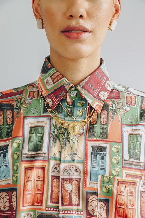 Camisa de botão arquitetura - OUSH