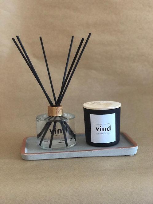 Vela Perfumada Vanilla Cream 180g - VIND