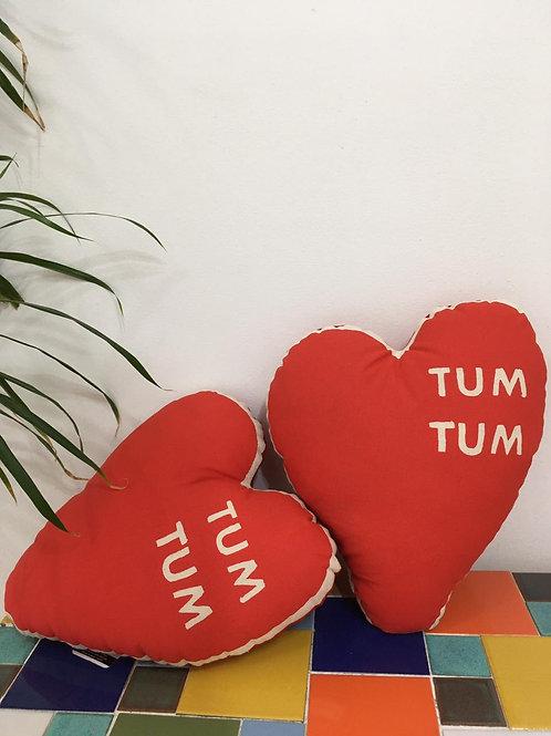 Almofada Coração Tum Tum