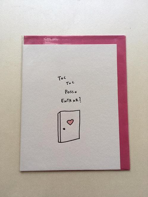 Cartão - Toc Toc