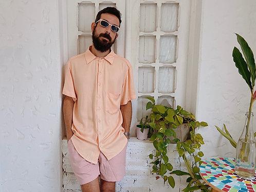 Camisa de botão  salmão - ZOME