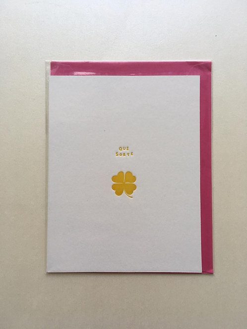 Cartão - Que Sorte