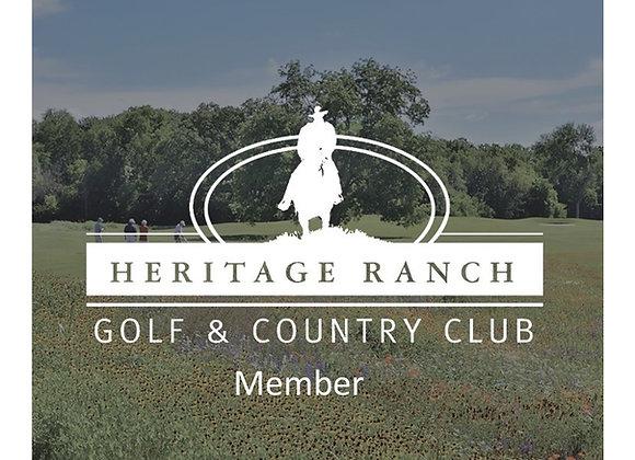 Single Player - Heritage Ranch Golf Club Member