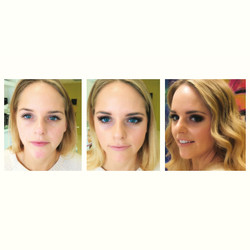 Before and after hair make up package
