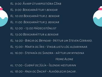 Jólaútvarp GSnb - mánudaginn 14.des.