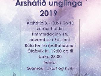 Árshátíð unglingastigs