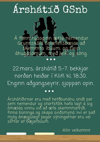 Árshátíð GSnb
