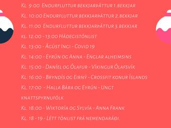 Jólaútvarp GSnb - miðvikudaginn 16. des.