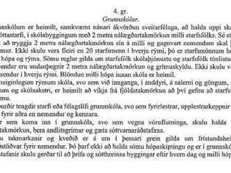 Skólastarf mun hefjast á ný að loknu páskafríi þriðjudaginn 6. apríl
