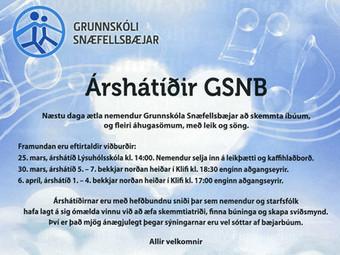Árshátíðir GSnb