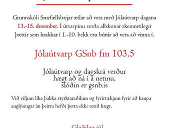 Jólaútvarp GSnb fm 103,5