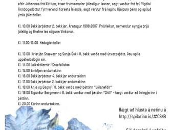 Jólaútvarp GSnb - þriðjudagur 11. des.