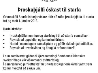Þroskaþjálfi óskast til starfa