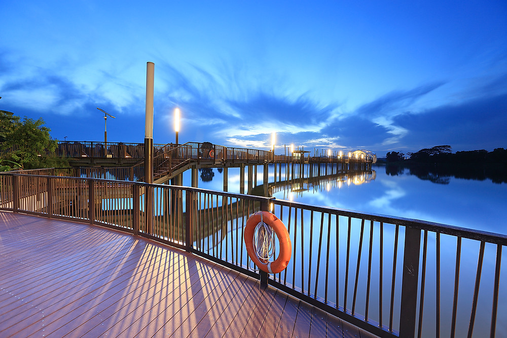 Heritage Bridge at Lower Seletar Reservoir, Singapore.