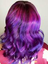 Pink violet and blue melt