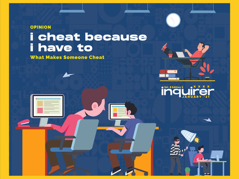 I cheat because I have to