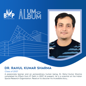 Dr. Rahul Sharma, M tech, Class of 2007