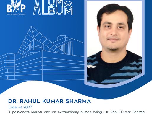 Dr. Rahul Sharma, M tech, Class of 2007