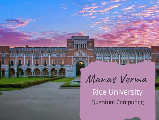 Rice University - Manas Verma, PH1