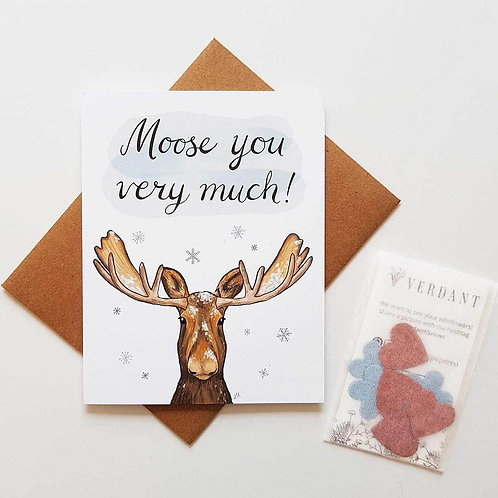 Moose You Very Much Eco-Friendly Greeting Card