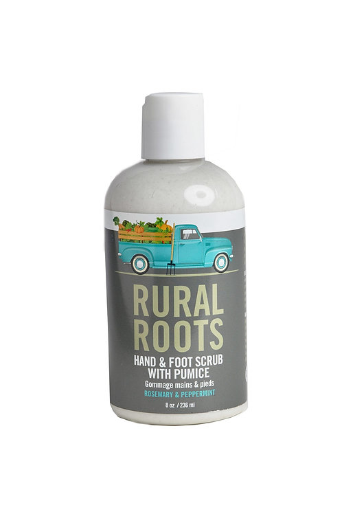 RURAL ROOTS HAND & FOOT SCRUB WITH PUMICE