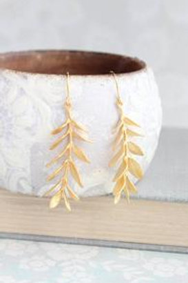 Gold Branch Earings