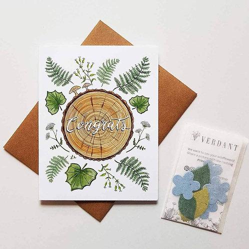 Congrats Greenery Eco-Friendly Greeting Card