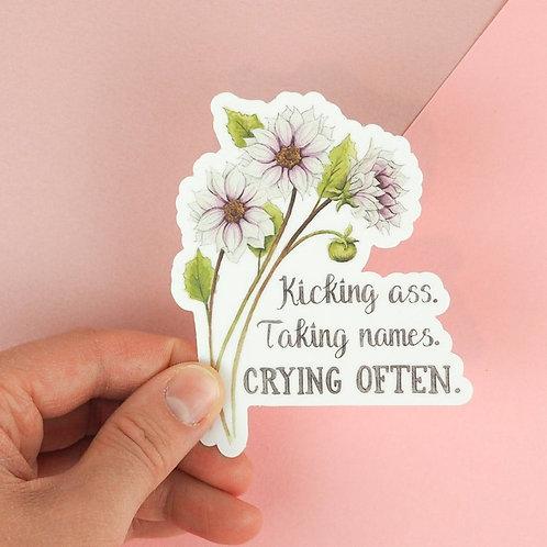 Kicking ass sticker