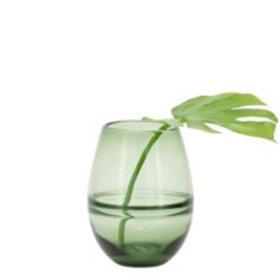 """Olive Green Saturn Vase 9"""""""