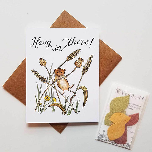Hang In There! Eco-Friendly Greeting Card