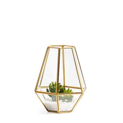 Gold and Glass Terrarium