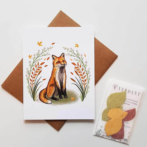 Autumn Fox Eco-Friendly Greeting Card