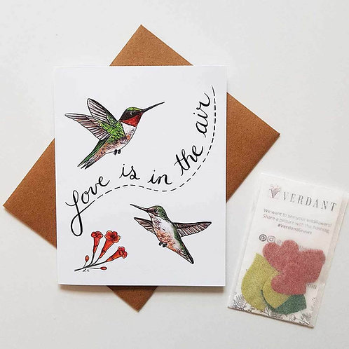Love Is In the Air Eco-Friendly Greeting Card