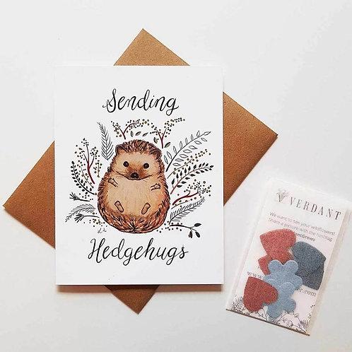 Sending Hedgehugs Eco-Friendly Greeting Card