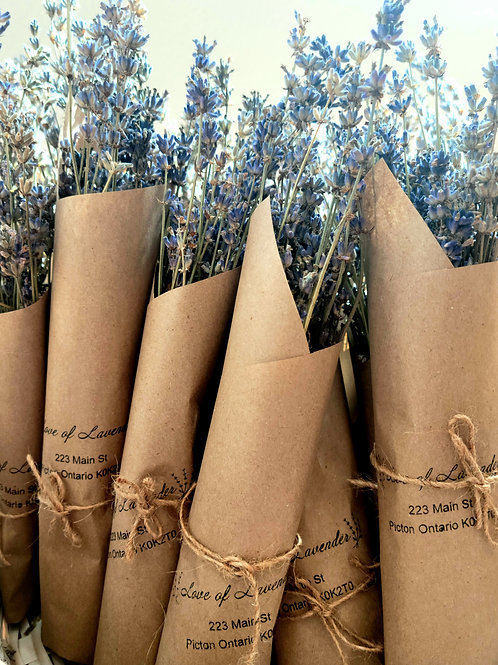 Dried Lavender Bouquet Bunch of 4