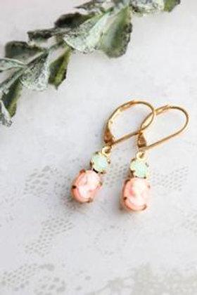 Little Pink Cameo Earrings