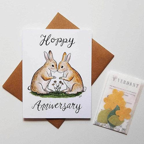Hoppy Anniversary Eco-Friendly Greeting Card