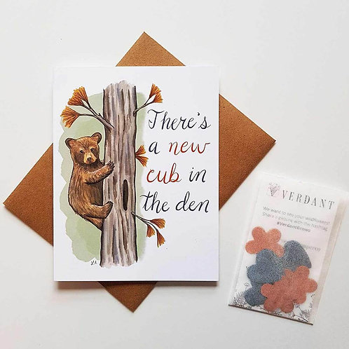 New Cub In the Den Eco-Friendly Greeting Card