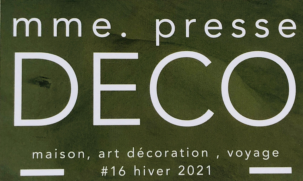 mme presse - DECO N°16 - Hiver 2021