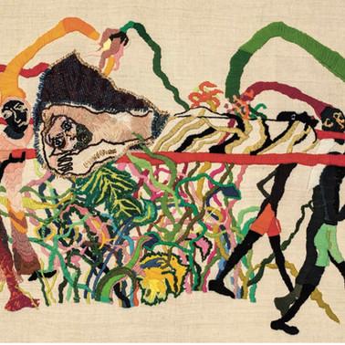 Pascal Monteil, l'aiguille est son pinceaux