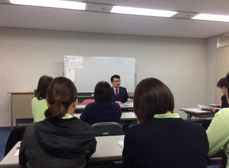 ニチイ学館にて研修の講師をしました。